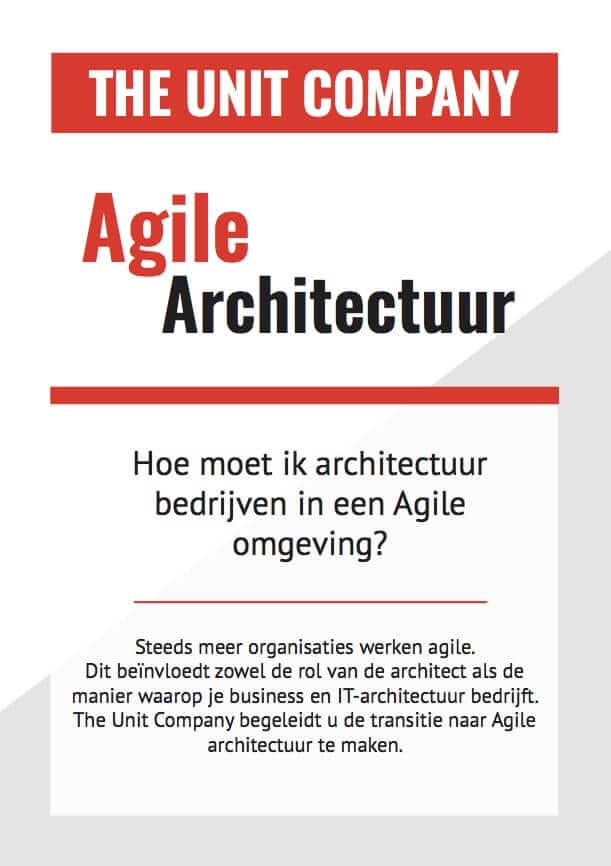 flyer Agile Architectuur