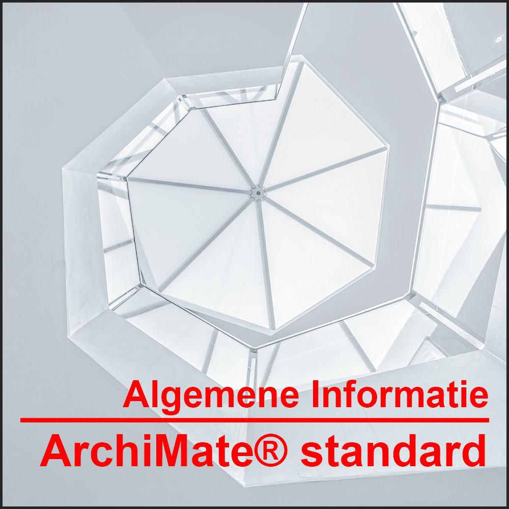 Algemene informatie ArchiMate® standard De internationale grafische taal voor het modelleren van enterprise-architecturen.