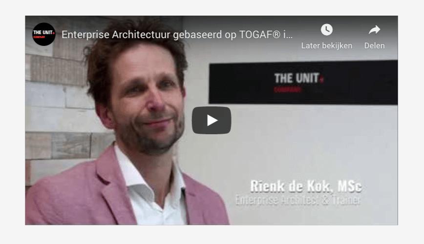 Lancering nieuwe training: Enterprise Architectuur in de praktijk interview met trainer en ontwikkelaar Rienk de Kok